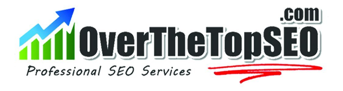 Top Online Marketing Business Logo: Over the Top SEO