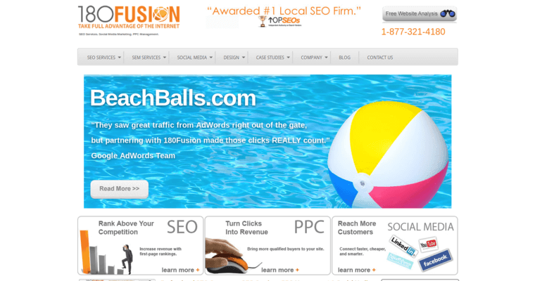 Home Page of Top Web Design Firms in California: 180fusion