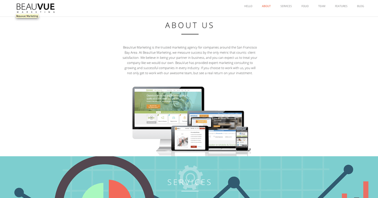 About Page of Top Web Design Firms in California: Beauvue Marketing