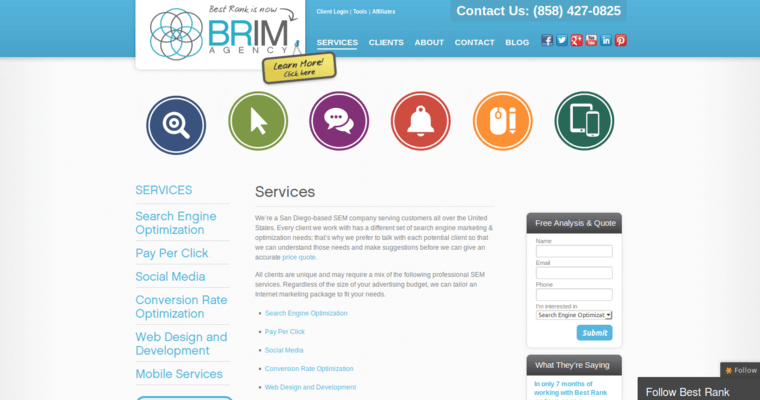 Service Page of Top Web Design Firms in California: Best Rank