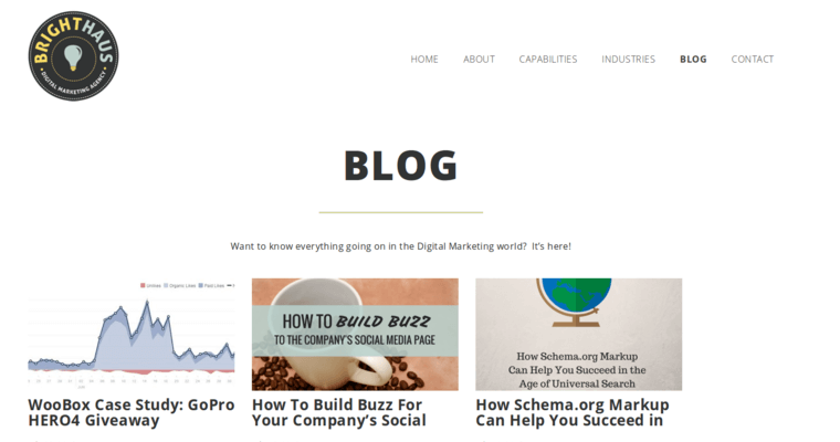 Blog Page of Top Web Design Firms in California: Brighthaus