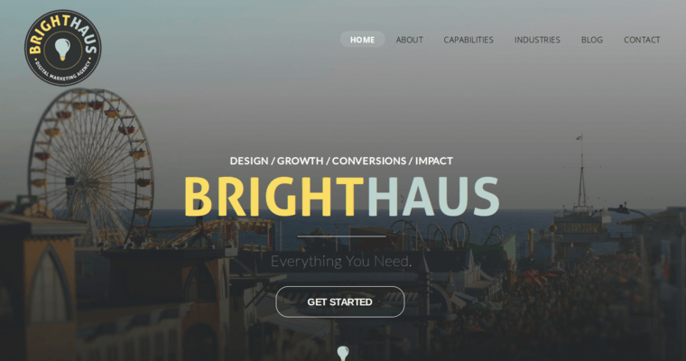 Home Page of Top Web Design Firms in California: Brighthaus