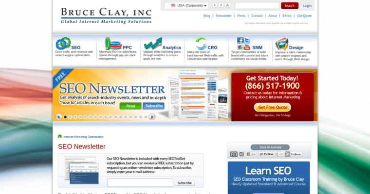 News Page of Top Web Design Firms in California: Bruce Clay