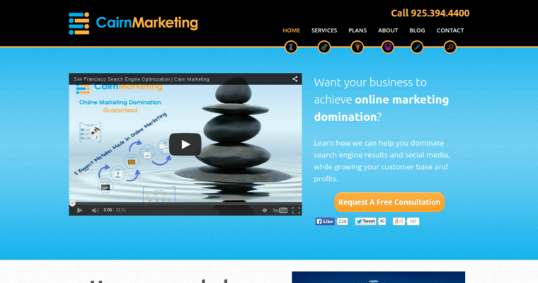 Home Page of Top Web Design Firms in California: Cairgn Marketing
