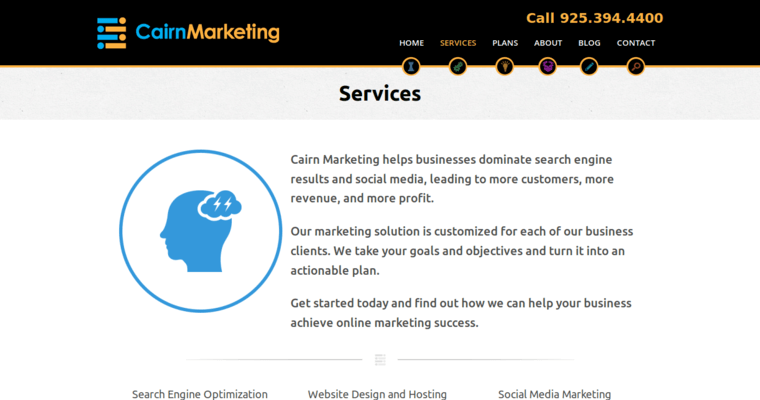 Service Page of Top Web Design Firms in California: Cairgn Marketing