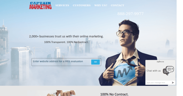 Home Page of Top Web Design Firms in California: Captain Marketing