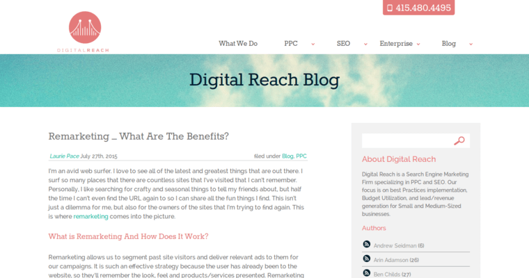 Blog Page of Top Web Design Firms in California: Digital Reach