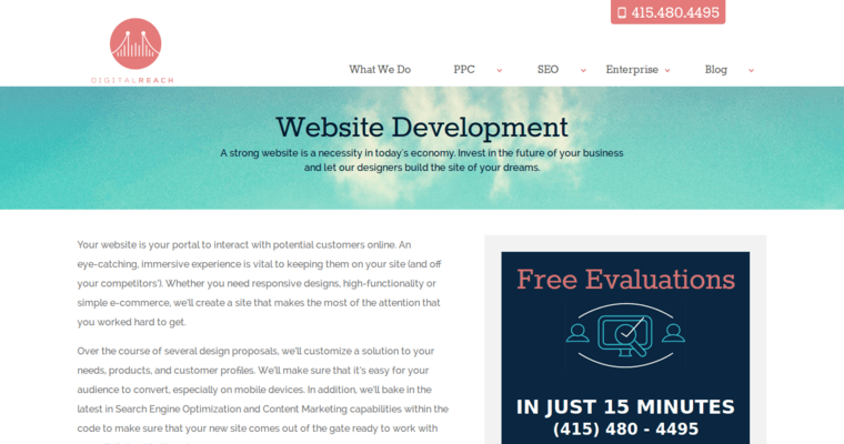 Development Page of Top Web Design Firms in California: Digital Reach