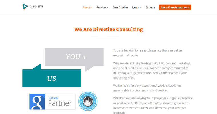 About Page of Top Web Design Firms in California: Directive Consulting