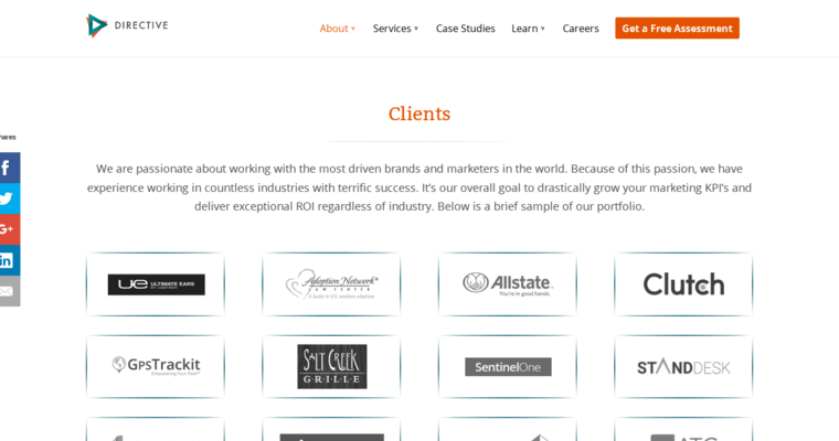 Folio Page of Top Web Design Firms in California: Directive Consulting