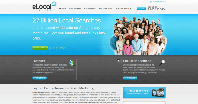 Home Page of Top Web Design Firms in California: eLocal Listing