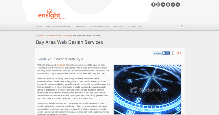Development Page of Top Web Design Firms in California: Ensight Marketing