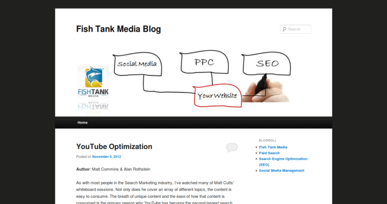 Blog Page of Top Web Design Firms in California: Fish Tank Media