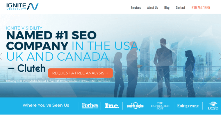 Home Page of Top Web Design Firms in California: Ignite Visibility
