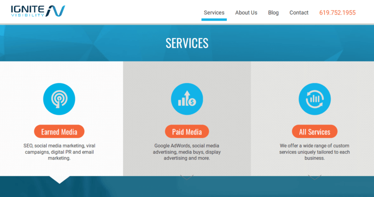 Service Page of Top Web Design Firms in California: Ignite Visibility