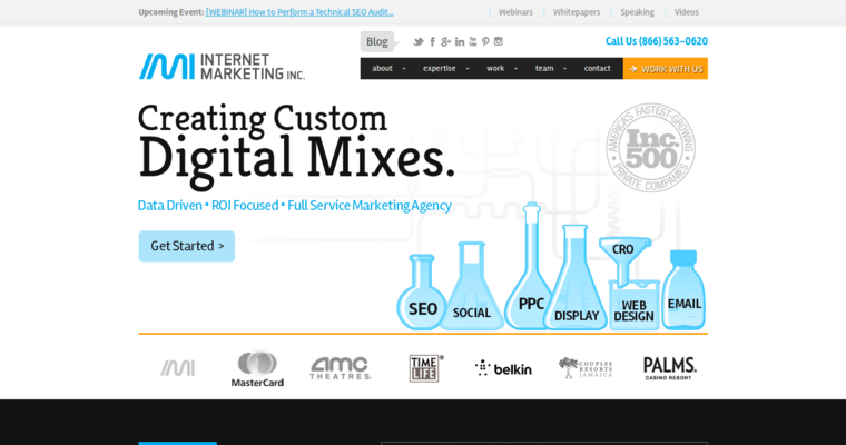Home Page of Top Web Design Firms in California: Internet Marketing Inc