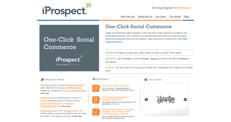 Home Page of Top Web Design Firms in California: iProspect