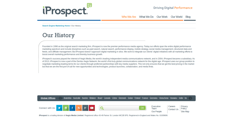 Story Page of Top Web Design Firms in California: iProspect