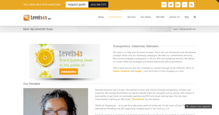 Team Page of Top Web Design Firms in California: Level343