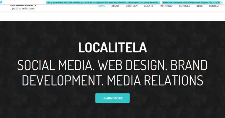 Home Page of Top Web Design Firms in California: Localite LA