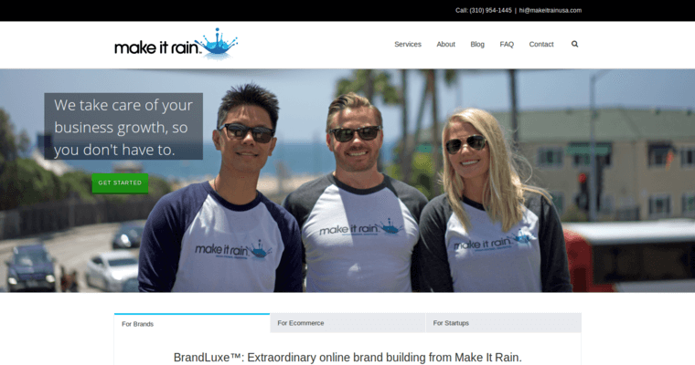 Home Page of Top Web Design Firms in California: Make It Rain