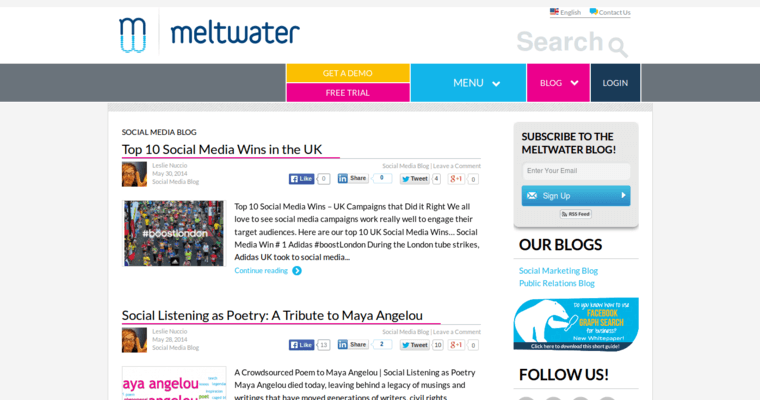 Blog Page of Top Web Design Firms in California: Meltwater