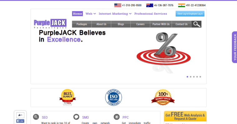 Home Page of Top Web Design Firms in California: PurpleJack
