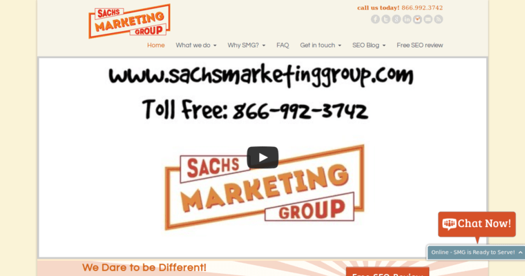 Home Page of Top Web Design Firms in California: Sachs Marketing Group