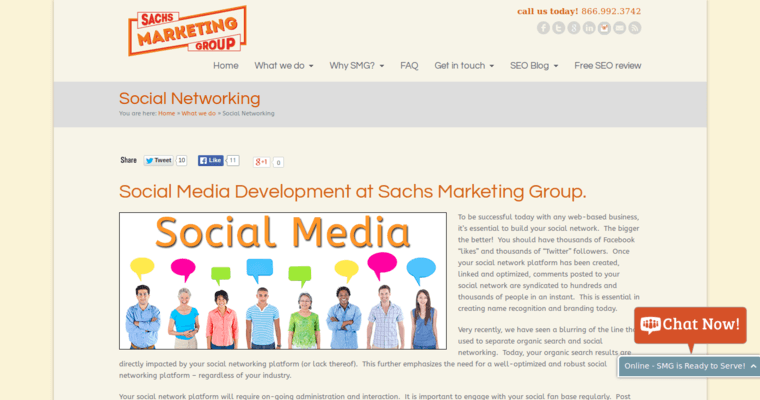 Work Page of Top Web Design Firms in California: Sachs Marketing Group