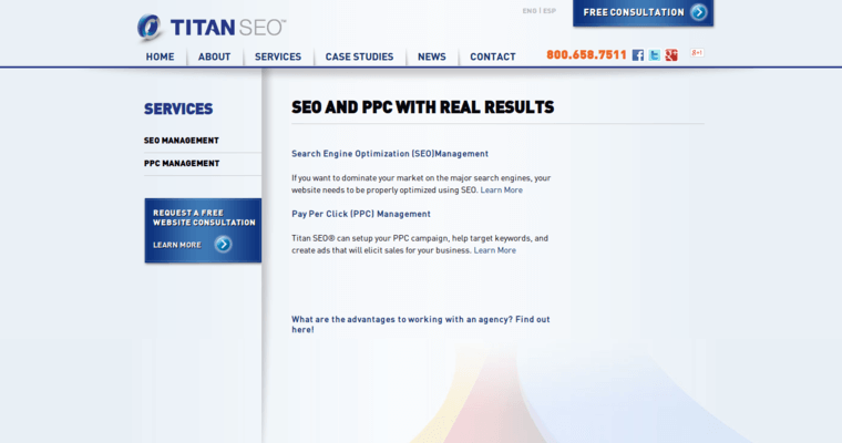 Service Page of Top Web Design Firms in California: Titan SEO