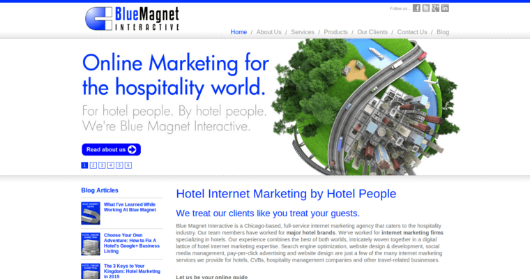 Home Page of Top Web Design Firms in Illinois: Blue Magnet Interactive