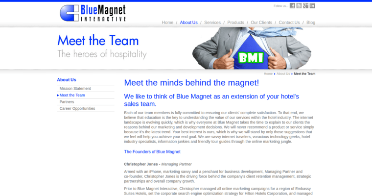 Team Page of Top Web Design Firms in Illinois: Blue Magnet Interactive