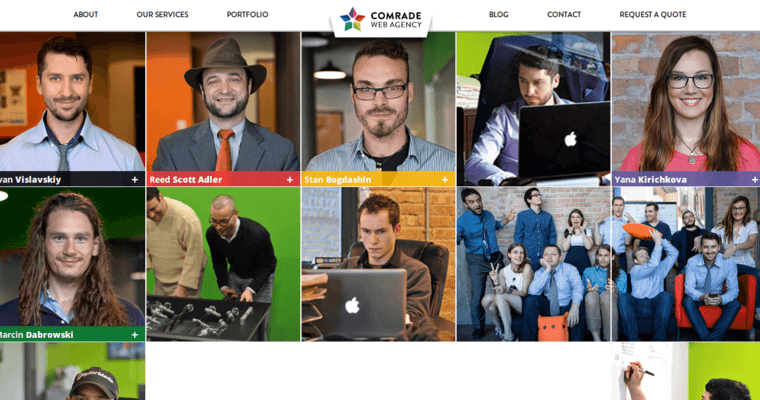 About Page of Top Web Design Firms in Illinois: Comrade