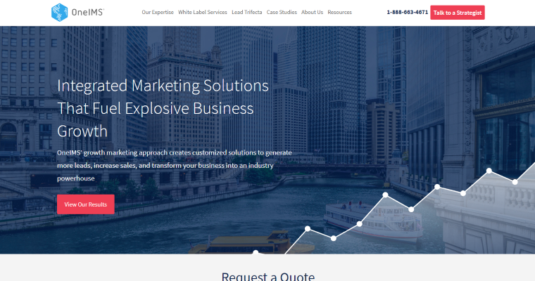 Home Page of Top Web Design Firms in Illinois: OneIMS