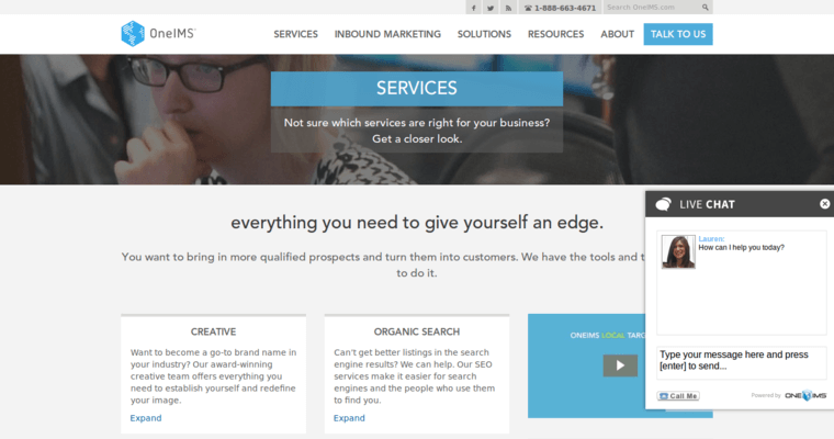 Service Page of Top Web Design Firms in Illinois: OneIMS